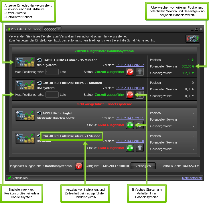 Trading system controls